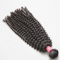 1Bundle Sales Genuine Virgin 9A Indian Kinky Curly Raw Hair Weave 100% Human Hair Weave Beauty Products Klaiyi