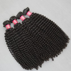 4 bundle Deals 400g cheap Unprocessed Raw Indian Virgin human hair Kinky Curly texture Special Hair Curls Weave,No tangle fast shipping