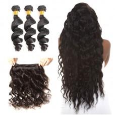 3Pcs/Lot Perfect hair weft American Fashion 10A indian loose wave Weaving hair natural color 300gram Wholesale SivollaHair