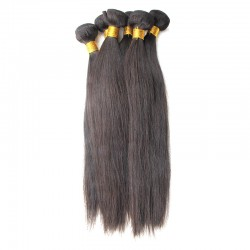 4 Pcs a lot Top quality Bundles Deal Virgin Natural Raw Hair Weave Silky Weft Straight Hair Indian RAW Hair Extension Off Black