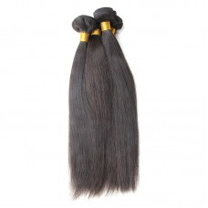 3Pcs/Lot Reliable Raw Hair Supplier 10A Indian Straight Weave Hair Weft Original Natural Pure Human Hairs NO Acid Boiling