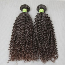 2Bundle Deal Original Unprocessed Malaysian Bouncy Jerry Curly Hair Weft Natural Color Grade 10A