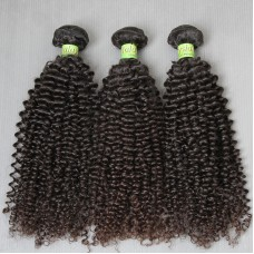 3Bundle Deals Dyeable Jerry Curly Malaysian Hair Dark Jet Black &Natural Brown hAIR Weaves Colour 100% Human Hair Grade 10A