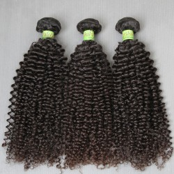 3Bundle Deals Dyeable Jerry Curly Malaysian Hair Dark Jet Black &Natural Brown hAIR Weaves Colour 100% Human Hair Grade 9A