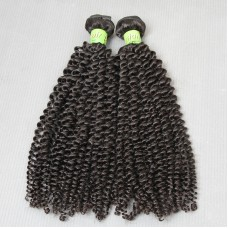 2 Bundle deals Virgin Malaysian Human Hair Kinky Curly Extension Exotic Grade 10A Unprocessed Raw Hair Weft Cuticle Aligned