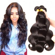 3Pcs/Lot Good Luster Malaysian Body Wave 100% Untreated wavy Human Virgin Hair Raw Natural Hair Braiding